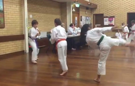 Karate grading red belt shotokan ASKA