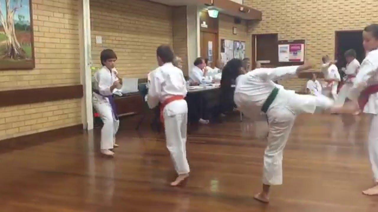 Karate grading red belt shotokan ASKA