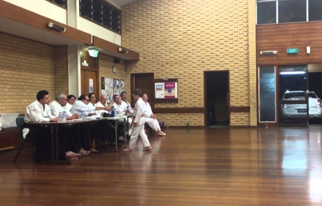 Karate red belt decision [shotokan] grading