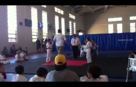 Max wins first at karate comp